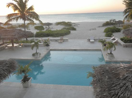 The Meridian Club Turks & Caicos: You can watch the sunset from the balcony of the upstairs bar