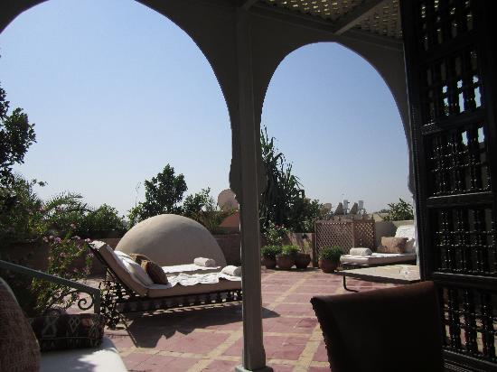 Riad Kniza: beautiful roof terrace
