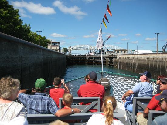 Sault Ste. Marie, MI: Enjoy a trip on the Soo Locks Boat Tours through the Soo Locks