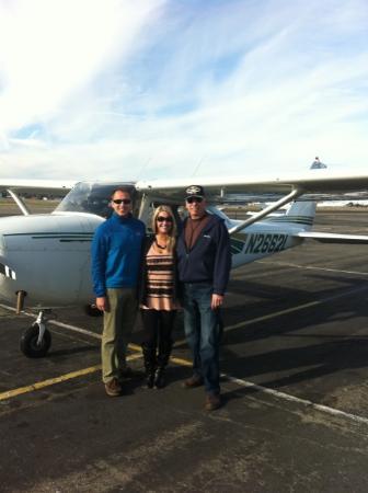 آن إن 2 ريميمبر: Us with Les in front of the plane!