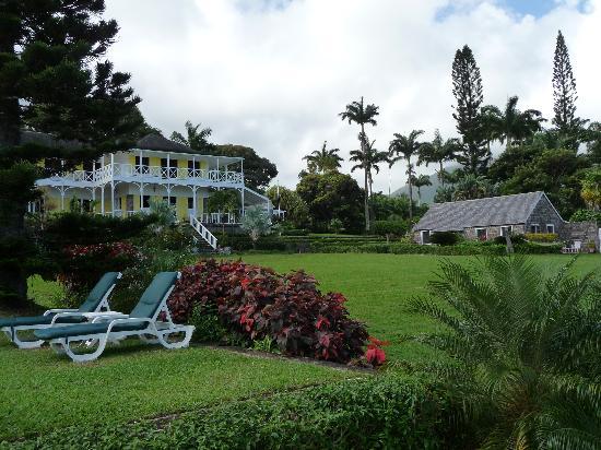 Ottley's Plantation Inn: House from the  gardens