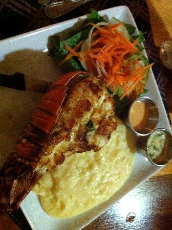 Wendy's Restaurant & Bar: spiny lob mashed potatoes salad