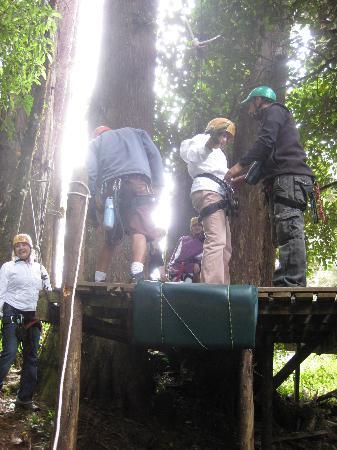 Canopy Adventure Barva Volcano: Checking gear