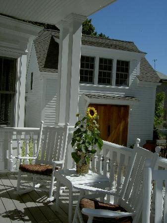 White Porch Inn: The carriage house from the porch at our boutique Provincetown hotel