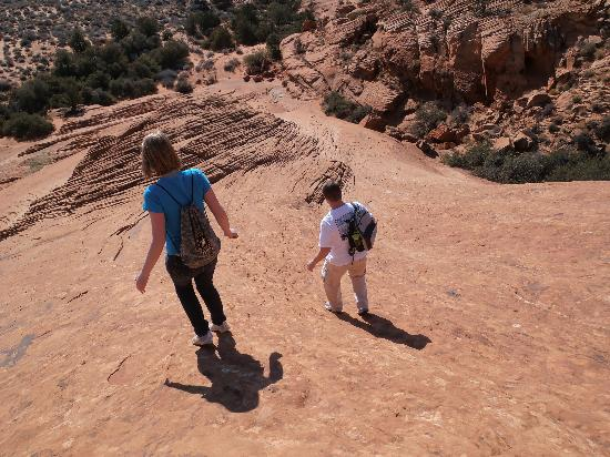 Snow Canyon State Park: Steep portion of Petrified Sand Dunes Trail