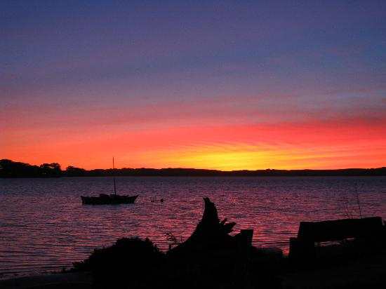 Sunset view from Back Bay Inn