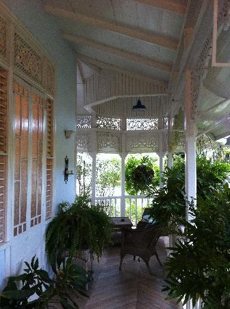 The Gingerbread House: Side veranda