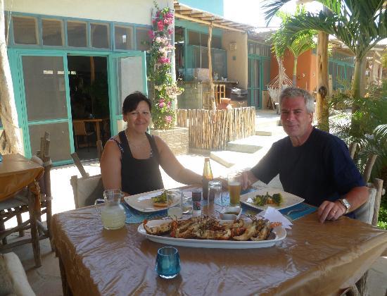 La Posada de los Tumpis: Deliciosos platos, como esta fresquísima langosta
