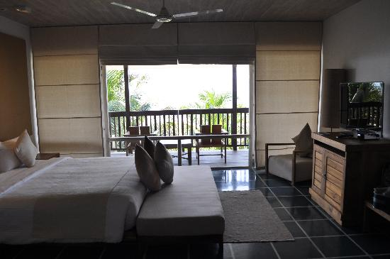 Bedroom and balcony view