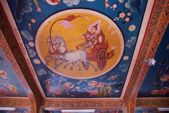Wat Langka: Wat Langka's painted ceiling