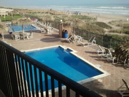 Seabreeze Beach Resort: This is the view of the pool from our room #207.