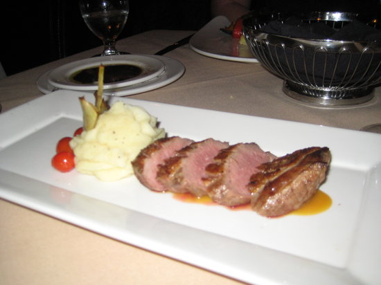 Carver's Steakhouse & Lounge: duck with peach and amretto glaze