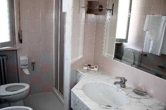 Hotel Tirrenus Perugia: Vista parziale del bagno