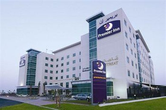 Premier Inn Dubai Investments Park Hotel: Front of Hotel
