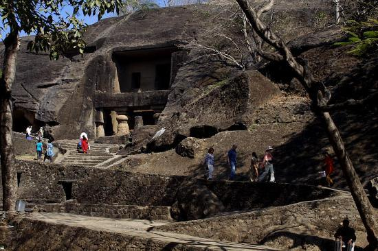 kanheri caves from the entry side picture of kanheri caves mumbai tripadvisor. Black Bedroom Furniture Sets. Home Design Ideas