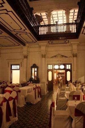 The Mansion: the dining hall for wedding receptions