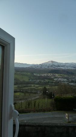 Dwy Olwyn Bed & Breakfast: View from the front bedroom window ...