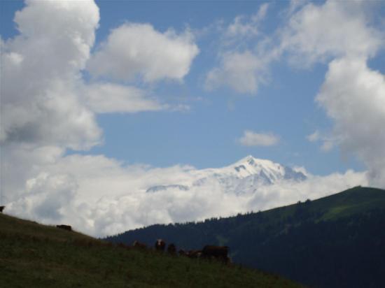 Montagne du Semnoz : vue sur mont blanc