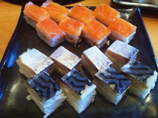 Hashi Cooking : Oshi-zushi  (pressed Sushi)