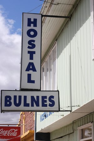 Hostal Bulnes: Look for this sign on the street 'Bulnes' near the Plaza end