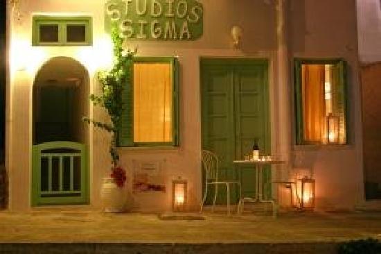 Sigma Studios: sigma olive-green entrance