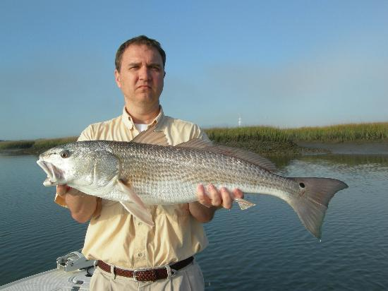 North Florida Fishing Charters: A nice redfish with Capt Ron