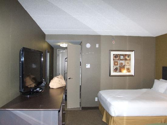 Holiday Inn Express Hotel & Suites Kingston: Bedroom with fridge and LCD TV