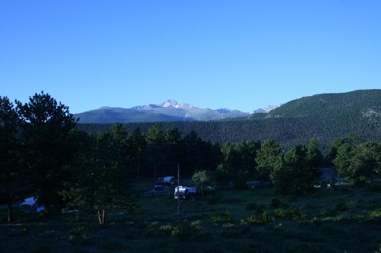"Moraine Park Campground: The view from walk-in site#101.  It's on a hill that overlooks the ""lower"" side of Loop A."