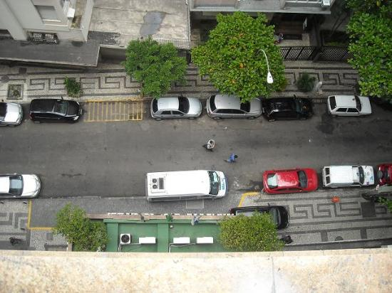 Windsor Palace Hotel: Blick auf die Strasse aus 10.Stock