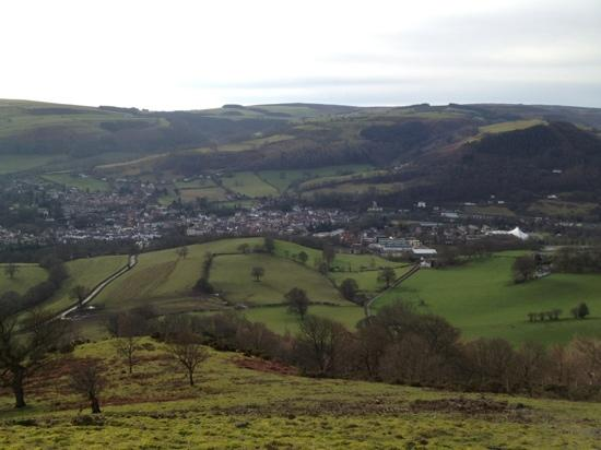 View towards Llangollen from Castell Dinas Bran