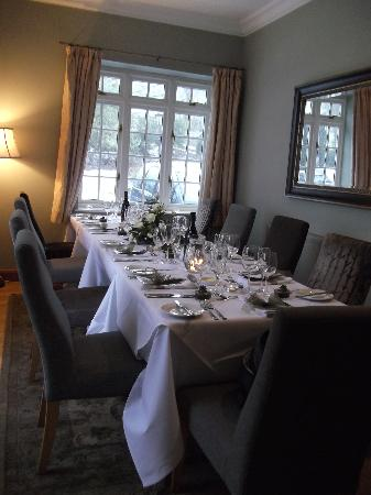 Losehill House Hotel & Spa: Private Dining Room