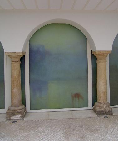 Hotel Viento 10: Painted Panel in Courtyard