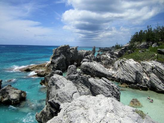 Horseshoe Bay Beach: Horseshoe Bay - view from cliff