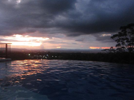 Hacienda Combia: the pool and the view