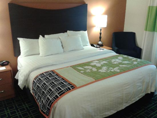 "Fairfield Inn & Suites Huntingdon Route 22/Raystown Lake: My ""king"" room"