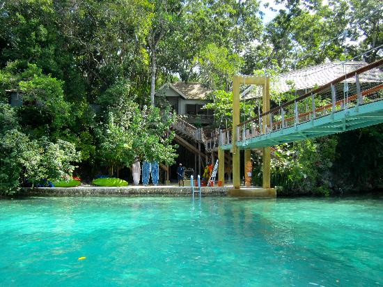 Oracabessa, Jamajka: Lagoon where you can kayak, snorkel or paddle-board