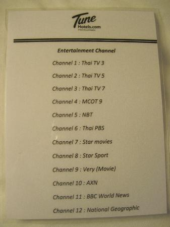 Red Planet Hat Yai: Tv channel available