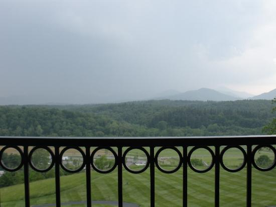The Inn on Biltmore Estate: view from the outdoor lounge