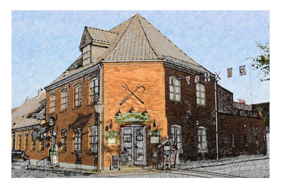 Marstal, Danmark: Artists impression of the Restaurant
