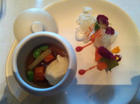 Jacques Reymond Restaurant: Contrast of Ocean Trout, slow cooked and smoked