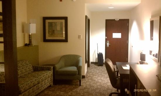 Comfort Suites Lake City: looking back toward the entrance to the room
