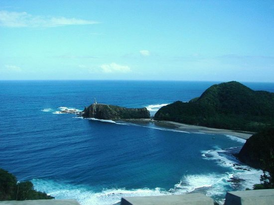 Baler, Philippines: the view of Dica beach/coastline from the road
