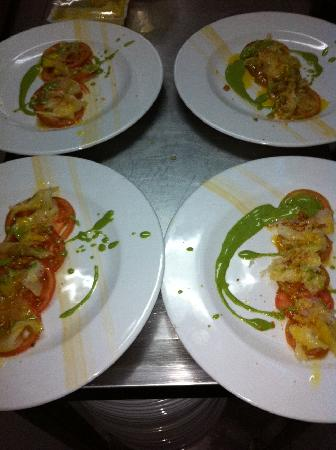 Restaurante Almanzor: Carpaccio bacalao
