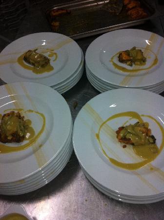 Restaurante Almanzor: Lasaña langosta y verduritas