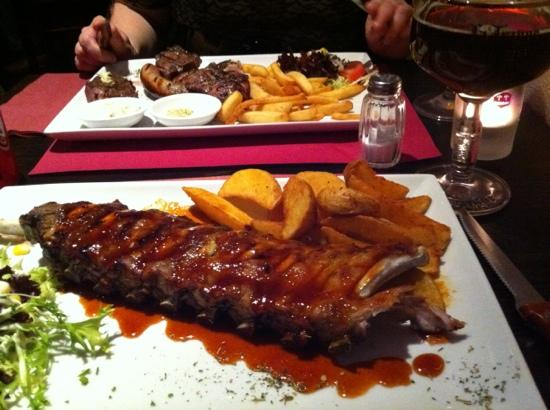 Ribs 'n Beer: BBQ ribs and mixed grill