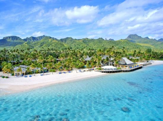 The Rarotongan Beach Resort & Spa: Aerial View of Resort