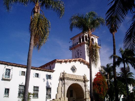 Santa Barbara, Californië: exterior of courthouse