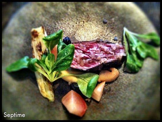 Septime: un des plat du menu degustation