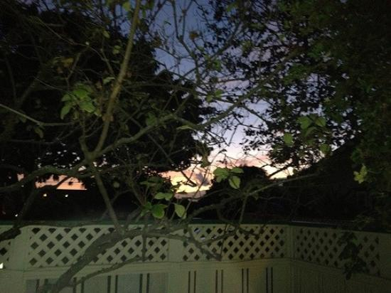 Old Wailuku Inn at Ulupono: Sunrise from the patio
