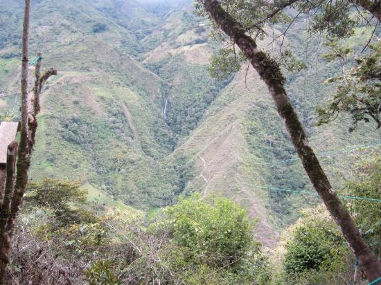 El Refugio de Intag Lodge: The zipline - Can you believe it